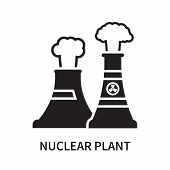 Nuclear Plant Icon Isolated On White Background. Nuclear Plant Icon Simple Sign. Nuclear Plant Icon  poster