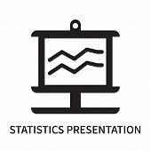 Statistics Presentation Icon Isolated On White Background. Statistics Presentation Icon Simple Sign. poster