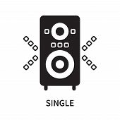 Single Icon Isolated On White Background. Single Icon Simple Sign. Single Icon Trendy And Modern Sym poster