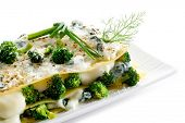 stock photo of vegetarian meal  - vegetarian lasagna - JPG