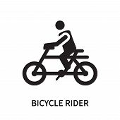 Bicycle Rider Icon Isolated On White Background. Bicycle Rider Icon Simple Sign. Bicycle Rider Icon  poster