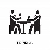 Drinking Icon Isolated On White Background. Drinking Icon Simple Sign. Drinking Icon Trendy And Mode poster
