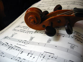 picture of musical instrument string  - Violin  - JPG