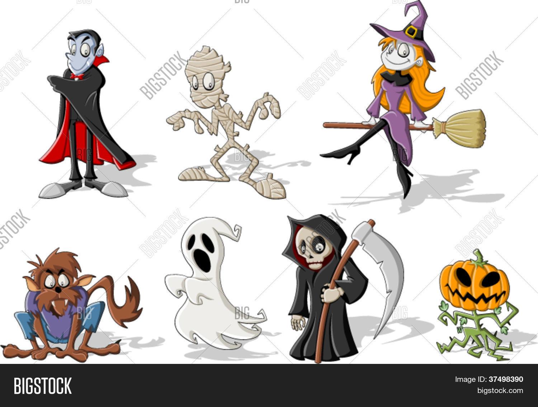 Vector y foto Personajes De Monstruo De Halloween  Bigstock