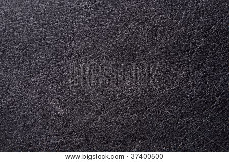 Black Aged Leather
