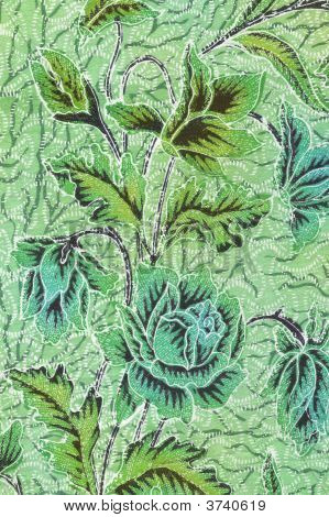 Green Batik Floral Sarong