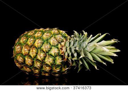 Pineapple isolated on black