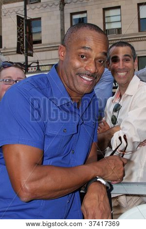 LOS ANGELES - OCT 30:  Rocky Carroll at the Hollywood Walk of Fame Ceremony for Mark Harmon at Hollywood & Vine on October 30, 2012 in Los Angeles, CA