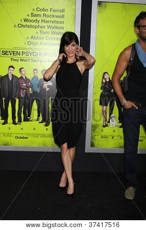 "LOS ANGELES - OCT 30:  Perrey Reeves  at the ""Seven Psychopaths"" Premiere at Bruin Theater on October 30, 2012 in Westwood, CA"