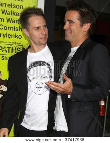 "LOS ANGELES - OCT 30:  Sam Rockwell, Colin Farrell  at the ""Seven Psychopaths"" Premiere at Bruin Theater on October 30, 2012 in Westwood, CA"