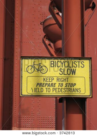 Bicyclists Slow