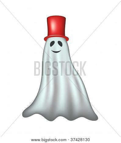 Ghost with red hat