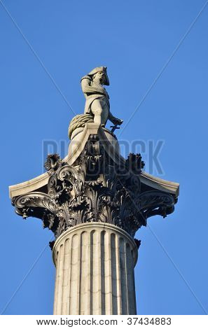 Close up of Nelsons column