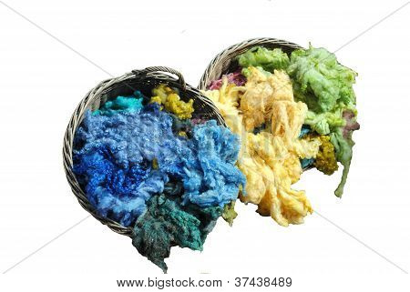 Raw Color Treated Lambs Wool