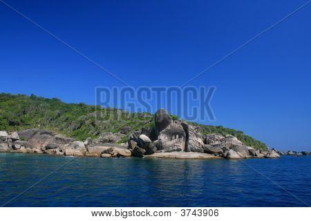 Clear Blue Sky Above Similan Islands, Thailand