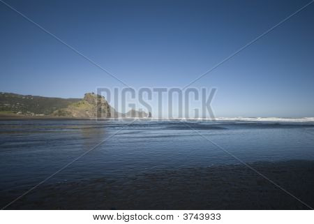 Across Piha Beach