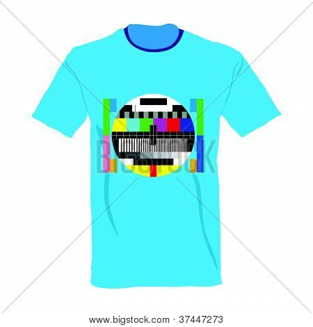 Tv Test On Shirt Vector