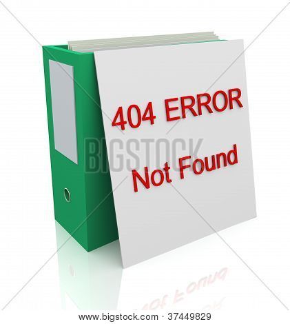 404 Error - Not Found