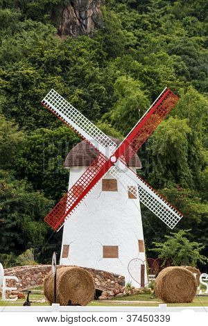Windmill In The Garden.