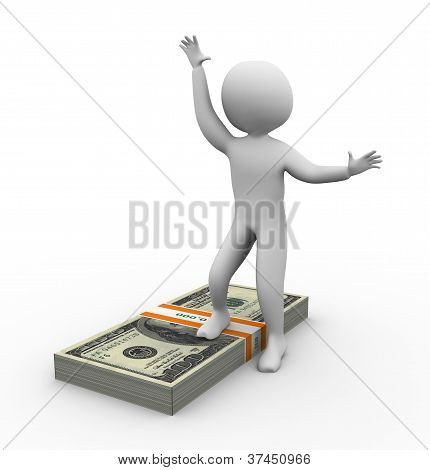 3D Man With Ten Thousand Dollar