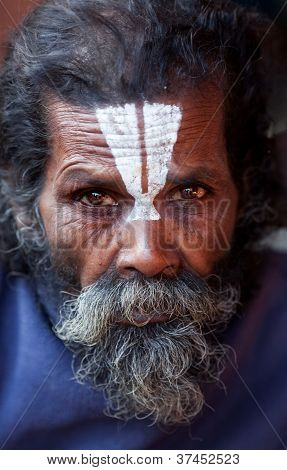 Portrait Of Shaiva Sadhu (holy Man)