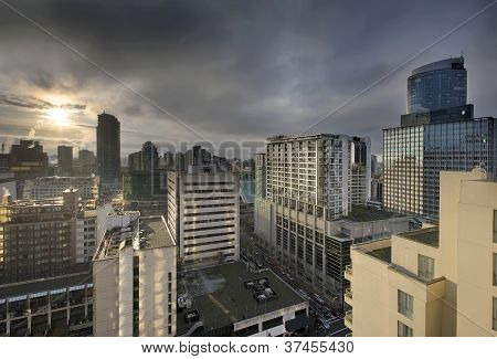 Sunrise Over Downtown Vancouver Bc