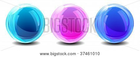 Three Abstract Globes