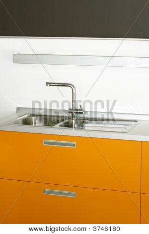 Yellow Kitchen Counter