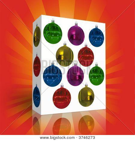 Box Whit Christmas Balls