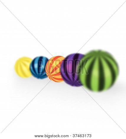Enfoque de bolas coloridas