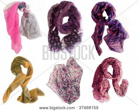 colección de bufandas de varios