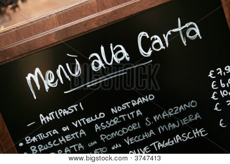 Menu manuscrita