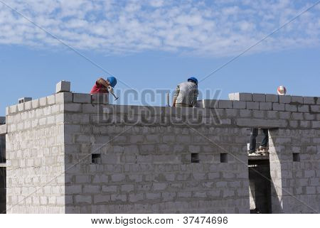 Home builders are building cinder block