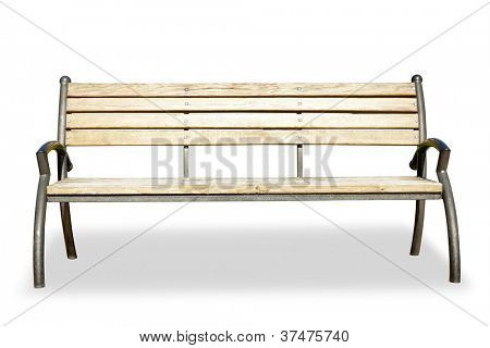 bench isolated over white background