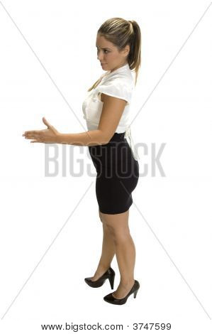 Businesswoman Ready To Hand Shake