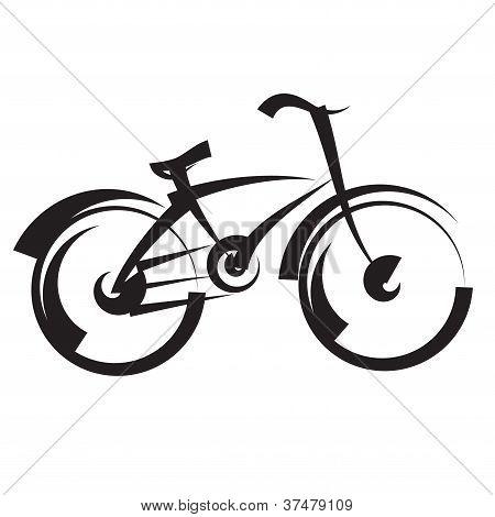bicicleta. dibujo a mano alzada. vector blanco y negro
