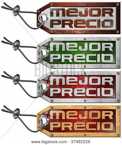 Set Of Best Price Tag In Spanish - 4 Items