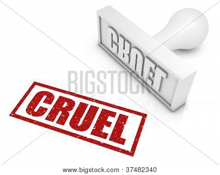 Cruel Rubber Stamp