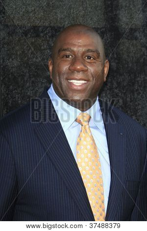 LOS ANGELES - OCT 1: Magic Johnson at the Time Warner Sports Launch of TWC Sportsnet and TWC Deportes Networks at TWC Sports Studios on October 1, 2012 in El Segundo, California