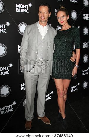 LOS ANGELES - OCT 2: Sebastian Copeland, wife Caroline at the Montblanc 2012 Montblanc De La Culture Arts Gala honoring Quincy Jones at Chateau Marmont on October 2, 2012 in Los Angeles, California