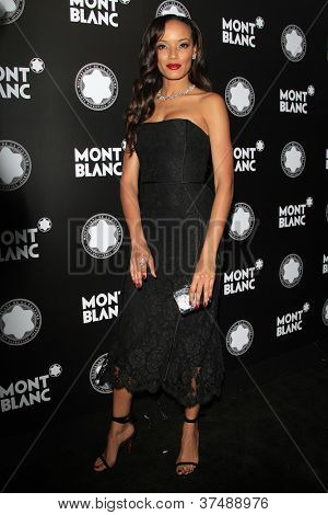 LOS ANGELES - OCT 2: Selita Ebanks at the Montblanc 2012 Montblanc De La Culture Arts Gala honoring Quincy Jones at Chateau Marmont on October 2, 2012 in Los Angeles, California