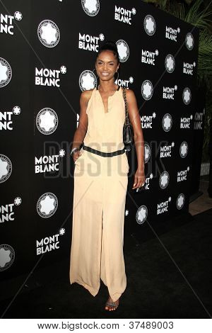 LOS ANGELES - OCT 2: Kim Porter at the Montblanc 2012 Montblanc De La Culture Arts Gala honoring Quincy Jones at Chateau Marmont on October 2, 2012 in Los Angeles, California
