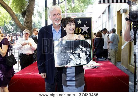 LOS ANGELES - OCT 3: Gale Anne Hurd, James Cameron at a ceremony as Gale Anne Hurd is honored with a star on the Hollywood Walk of Fame on October 3, 2012 in Los Angeles, California