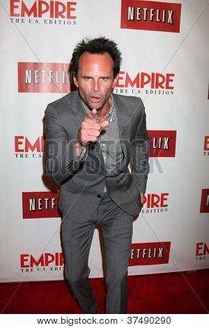 LOS ANGELES - OCT 2:  Walton Goggins arrives at the Empire US for iPad Launch at Sunset Tower Hotel on October 2, 2012 in West Hollywood, CA