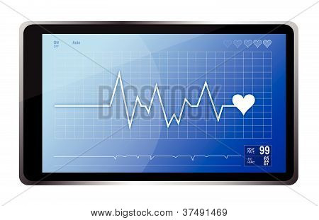 lifeline monitor and computer tablet illustration design