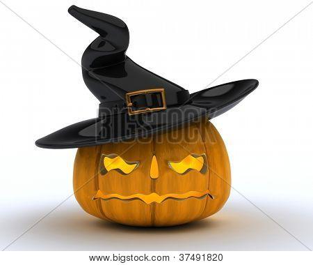 3D Render of Carved pumpkin Jacko Lantern