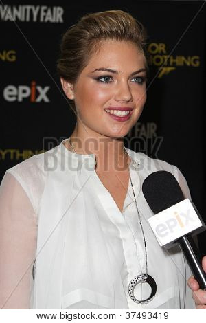 NEW YORK-OCT 3: Kate Upton attends the 'Everything Or Nothing: The Untold Story Of 007' premiere at the Museum of Modern Art on October 3, 2012 in New York City