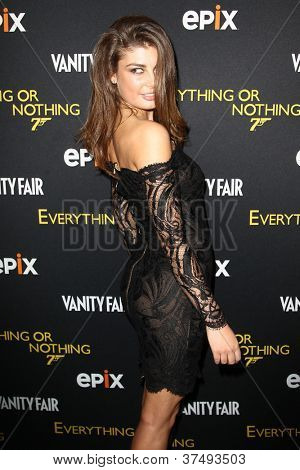 NEW YORK-OCT 3: Model Angela Martini attends 'Everything Or Nothing: The Untold Story Of 007' premiere at the Museum of Modern Art on October 3, 2012 in New York City