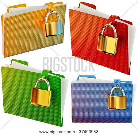 set of folders with locks