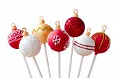 stock photo of cake pop  - Christmas cake pops - JPG